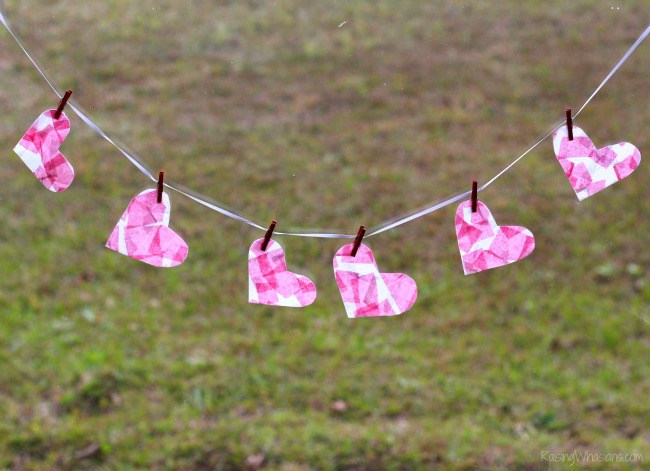 Raising Whasians - Mosaic Heart Valentines Banner