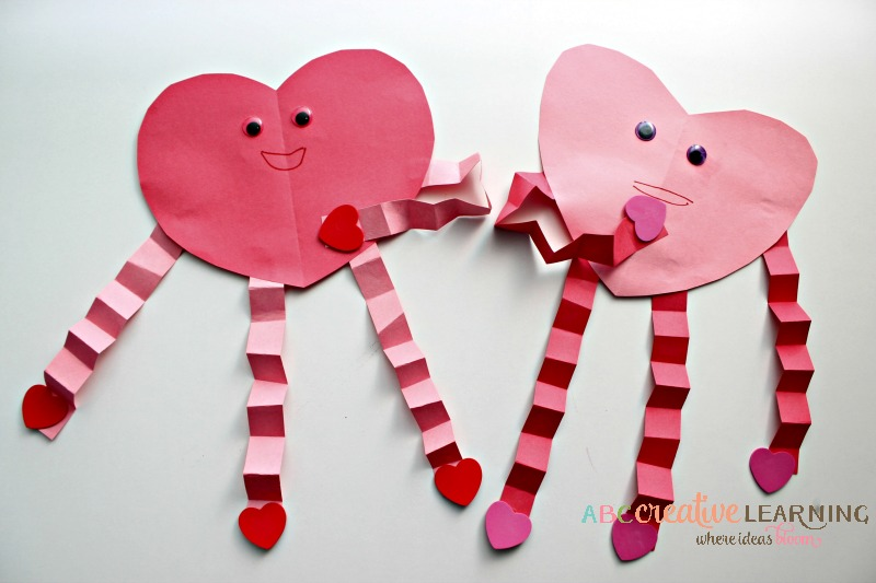 abc creative learning construction paper heart craft whats your favorite valentines day - Valentine Day Crafts For Kids