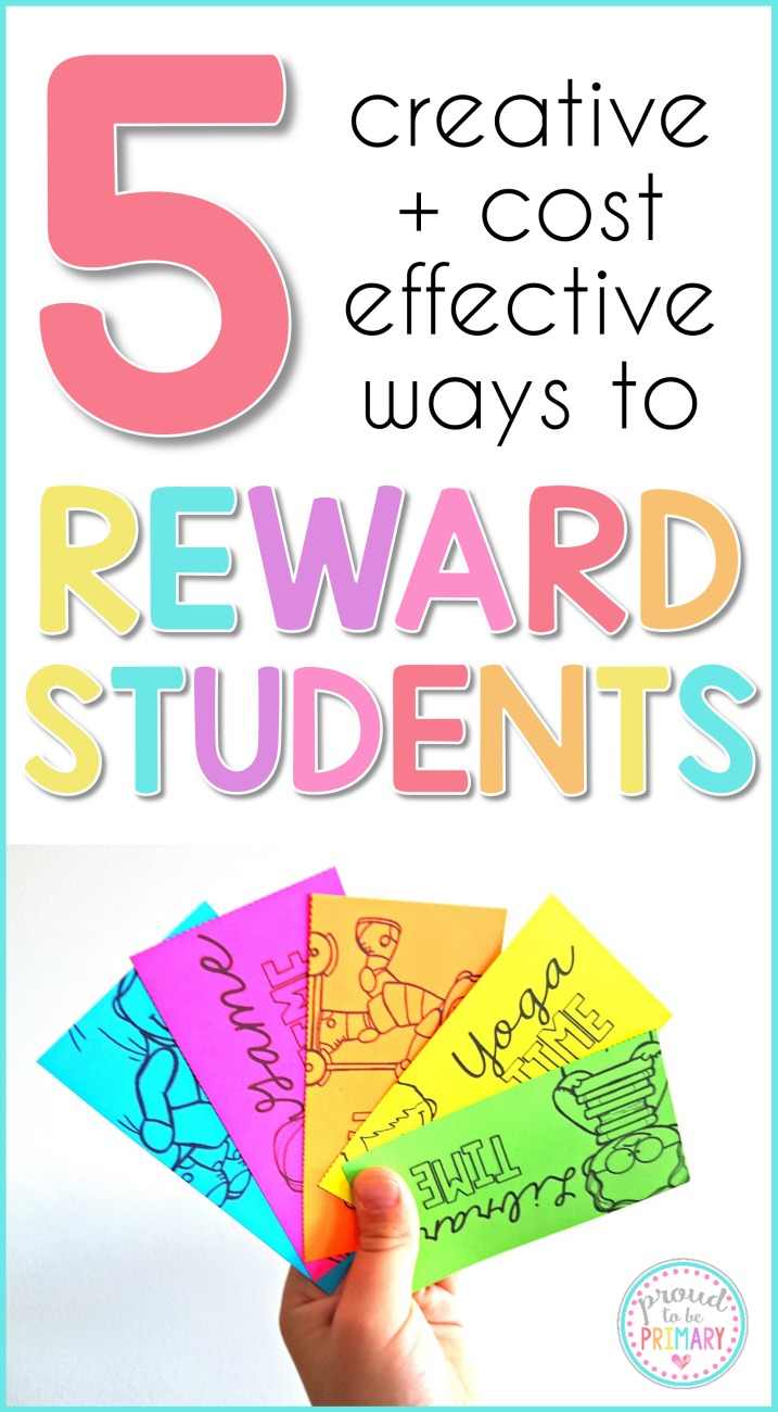 5 creative, cheap, and fun rewards for kids! Students will love the coupons, certificates, Brag Tags, and more that are positive and motivating at school. #classroommanagement #rewardsforkids #classcoupons #classroomorganization #teachingtips #teacherfreebies #bragtags