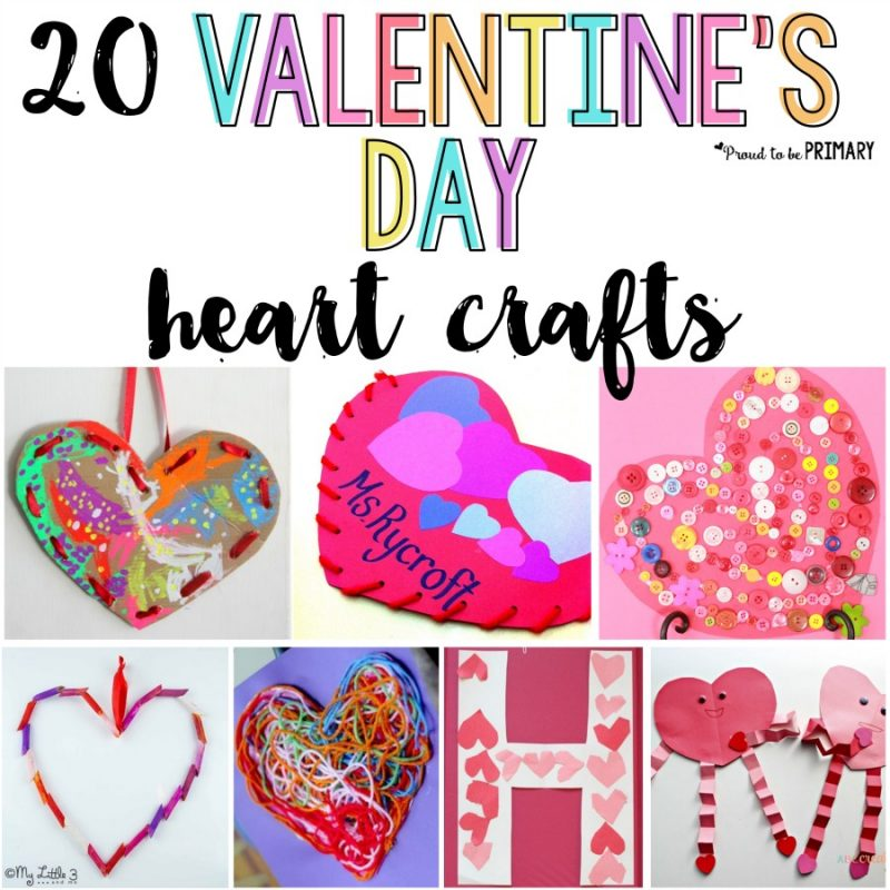 20 Valentine's Day Heart Crafts for Kids