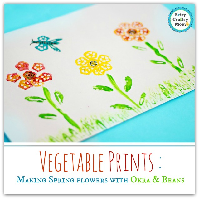 Artsy Craftsy Mom - Spring Flowers Made with Vegetable Printing