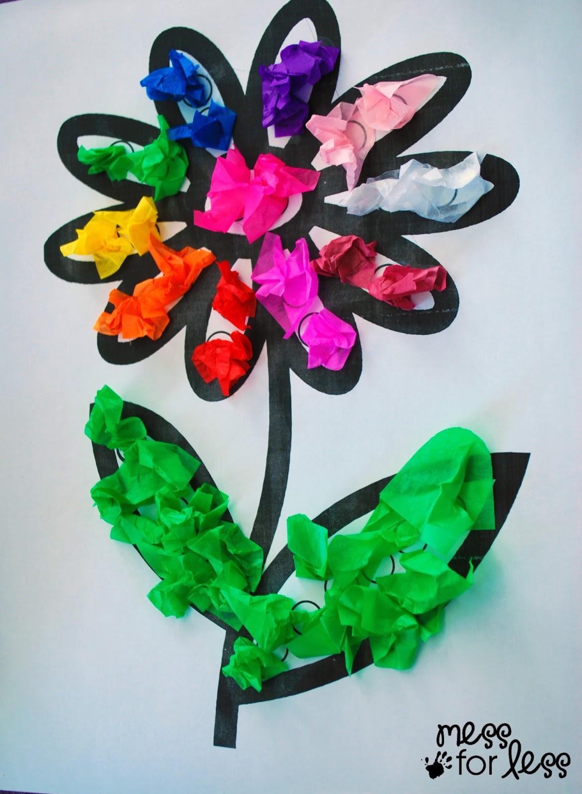 Mess For Less - Tissue Paper Flower Art