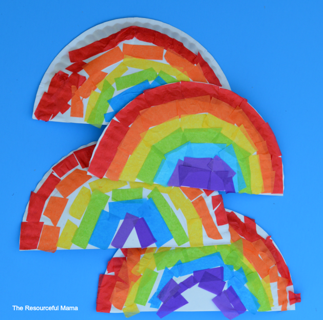 The Resourceful Mama - Tissue Paper and Paper Plate Rainbow