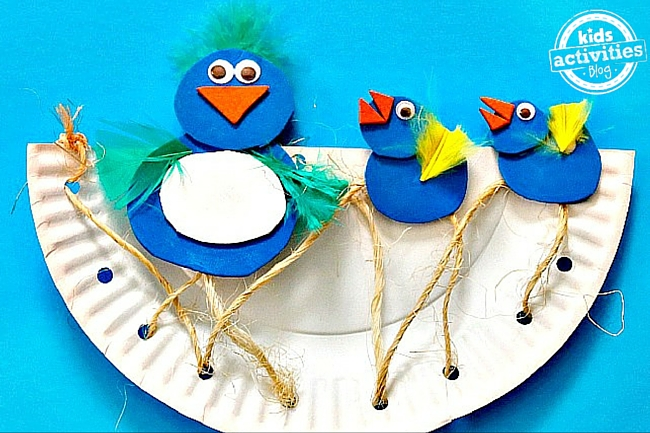 Kids Activities Blog - Paper Plate Birds
