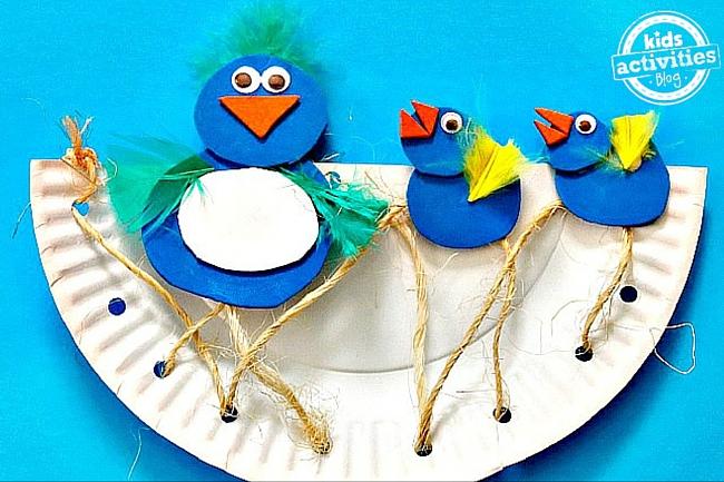 Kids Activities Blog - Paper Plate Birds