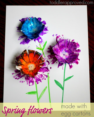 Toddler Approved - Egg Carton Spring Flowers