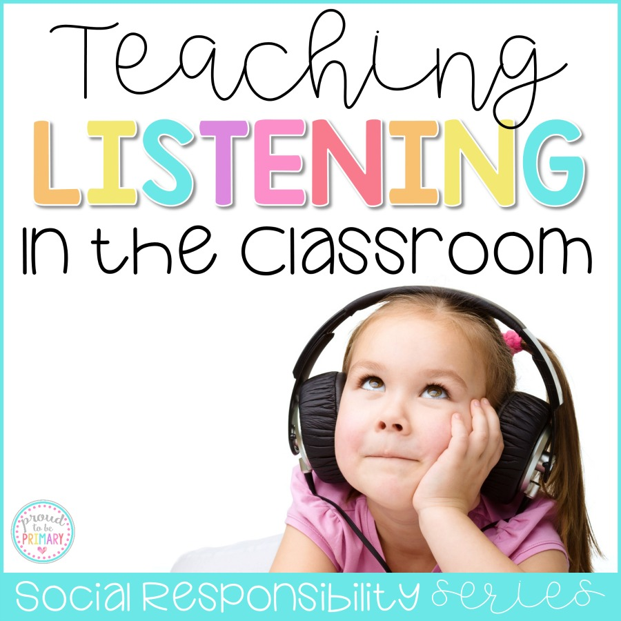 7 important ideas for teaching listening skills in the classroom. Whole body listening activities and books, class games, and daily practice ideas and a FREEBIE are included!