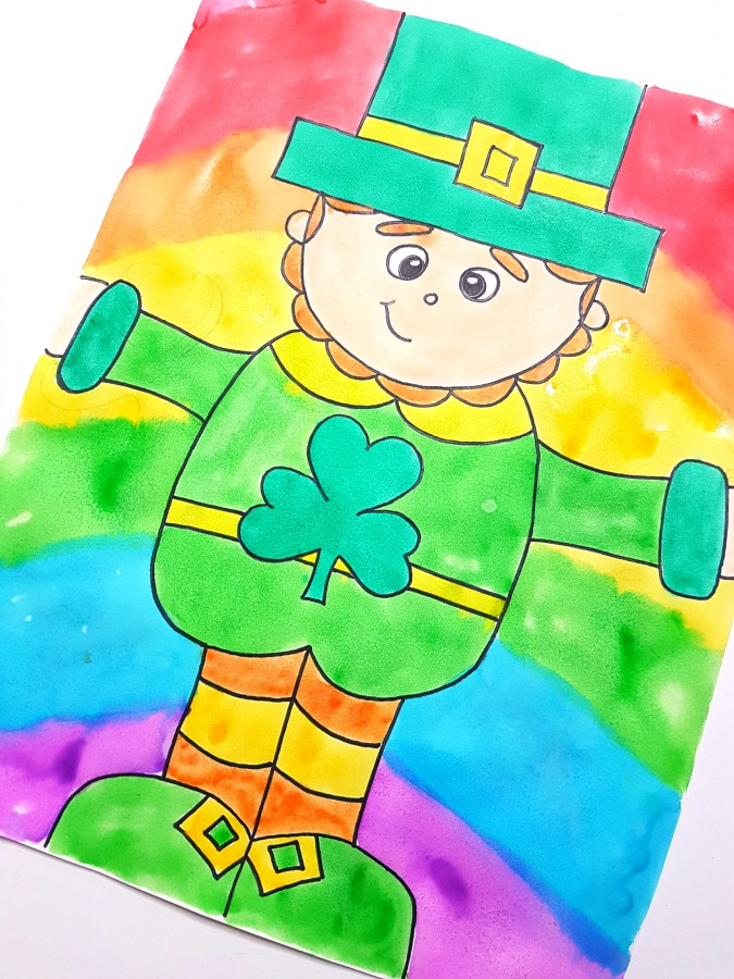 Decorate your class this March with this rainbow Leprechaun directed drawing for St. Patrick's Day. Follow the easy step by step printable art instructions that you can get for FREE! #directeddrawing #stpatricksday #leprechaun #leprechaunactivities #artforkids #kidcrafts