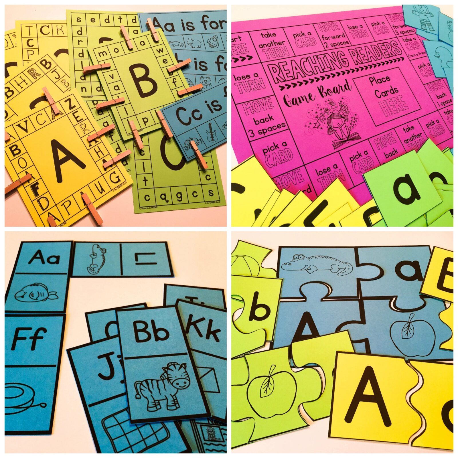 letter recognition - printable puzzles and games