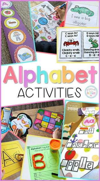 letter recognition - alphabet activities mega bundle