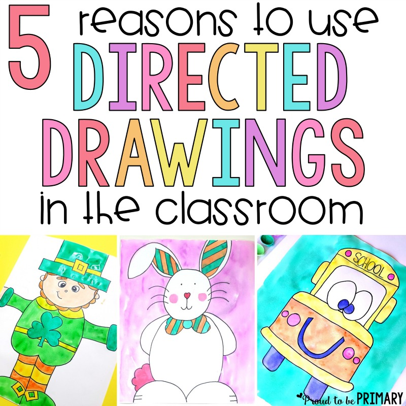 Every teacher should be using directed drawings in the classroom! These art activities for kid produce masterpieces and build listening and following directions. This is the ultimate source for FREE step by step tutorials and directed drawing resources. #proudtobeprimary #directeddrawing #artforkids #teachingideas #artintheclassroom #kidart #drawing