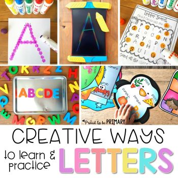 Preschool and kindergarten children will enjoy these fun, creative ways to learn and practice the alphabet. The literacy activities include alphabet songs, games, books, tracing, crafts, and FREE printable resources to build letter identification and phonetic skills.