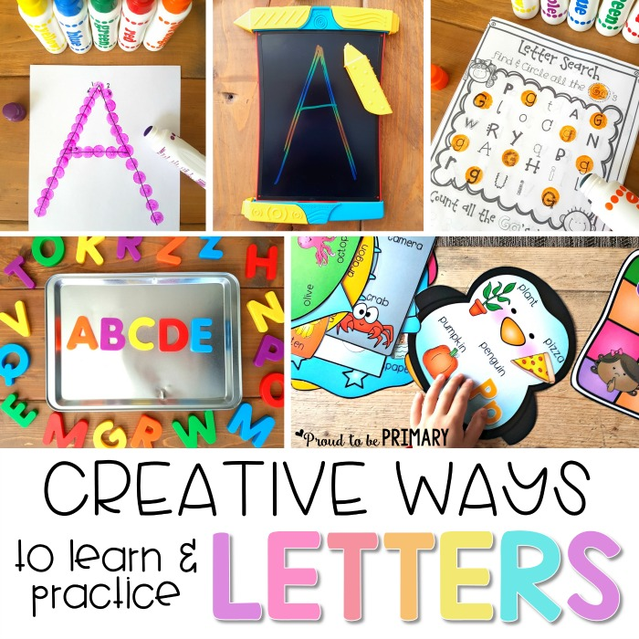 Fun Ways to Teach Letter Recognition | Preschool and kindergarten children will enjoy these fun, creative ways to learn and practice the letters of the alphabet. The literacy activities include letter songs, games, books, tracing, crafts, and FREE printable resources to build letter identification and phonetic skills. #alphabet #alphabetactivities #phonics #preschool #kindergarten #letteractivities #earlyliteracy