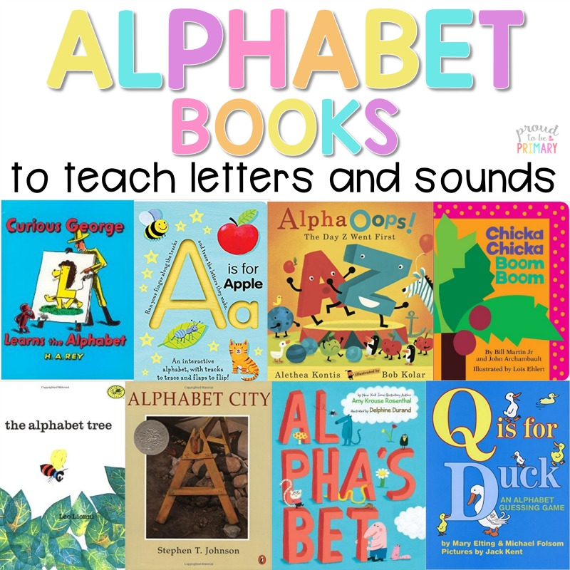 Alphabet books | A children's literature book guide to help teach the alphabet in preschool and kindergarten. Teachers can read the alphabet books to teach letters and sounds aloud, share them in small groups, or add them to a classroom bookshelf! #alphabet #alphabetactivities #alphabetbooks #preschool #kindergarten #letteractivities #booksforkids