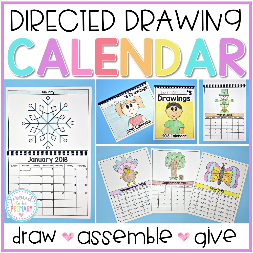 directed drawing calendar by Proud to Be Primary