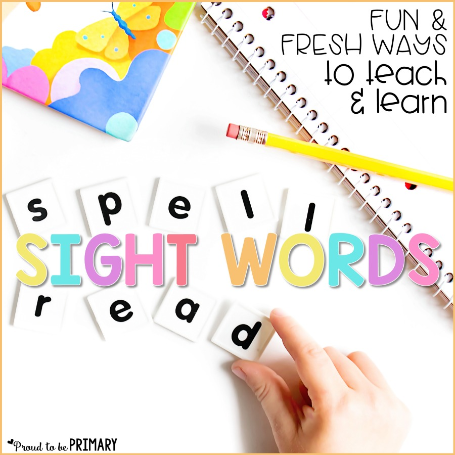 Looking for hands-on sight word learning ideas for the classroom? Click to find a ton of fresh and fun ways to teach and learn sight words with young kids. Help preschool, Kindergarten, and primary children learn, retain, and gain fluency with sight words and grab a FREE printable resource to get you started!