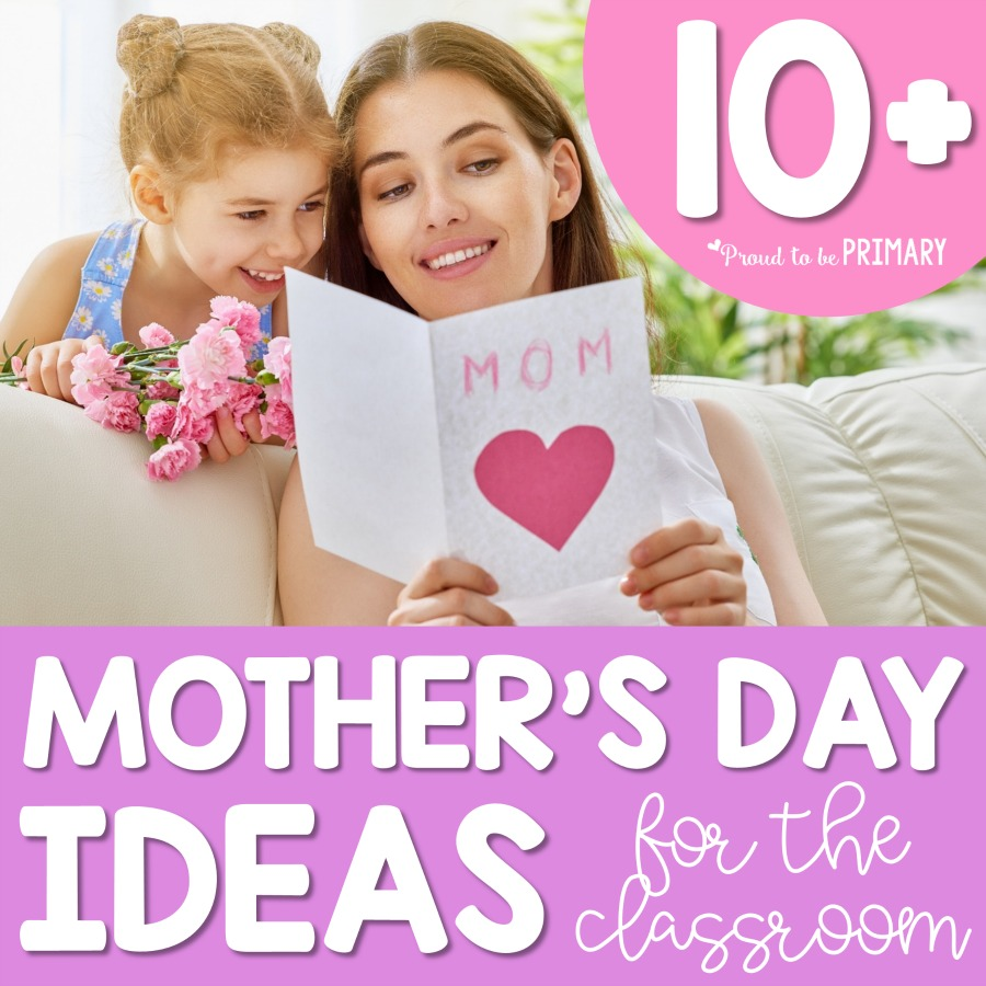 Celebrate Mother's Day in the classroom with these ideas and activities for kids. Help them to recognize mom and grandparents by making a simple, hand-made gift, such as a card, craft, or directed drawing portrait or have a special event and invite mom. #mothersday #mothersdayactivities #giftsformom #mothersdaygifts #artforkids #kidcrafts