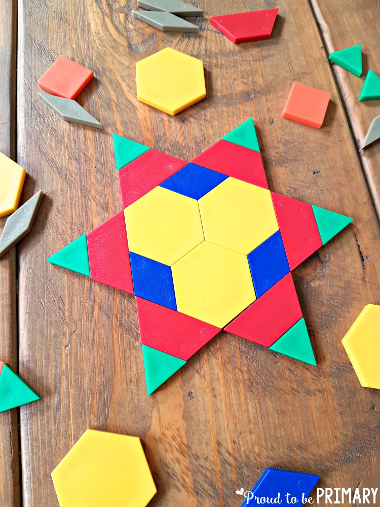 Kids will have fun learning and building with shapes while trying out the geometry ideas and resources. A FREE pattern block symmetry activity included!