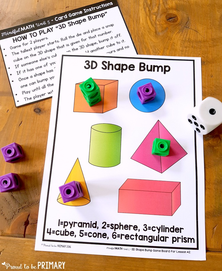 geometry and shapes for kids - 3D shapes