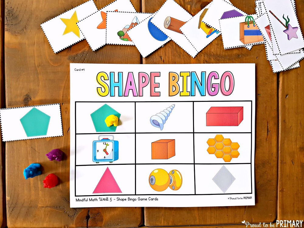 geometry and shapes for kids - shape bingo