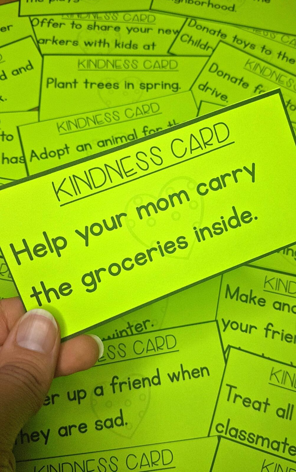kindness activities - kindness cards