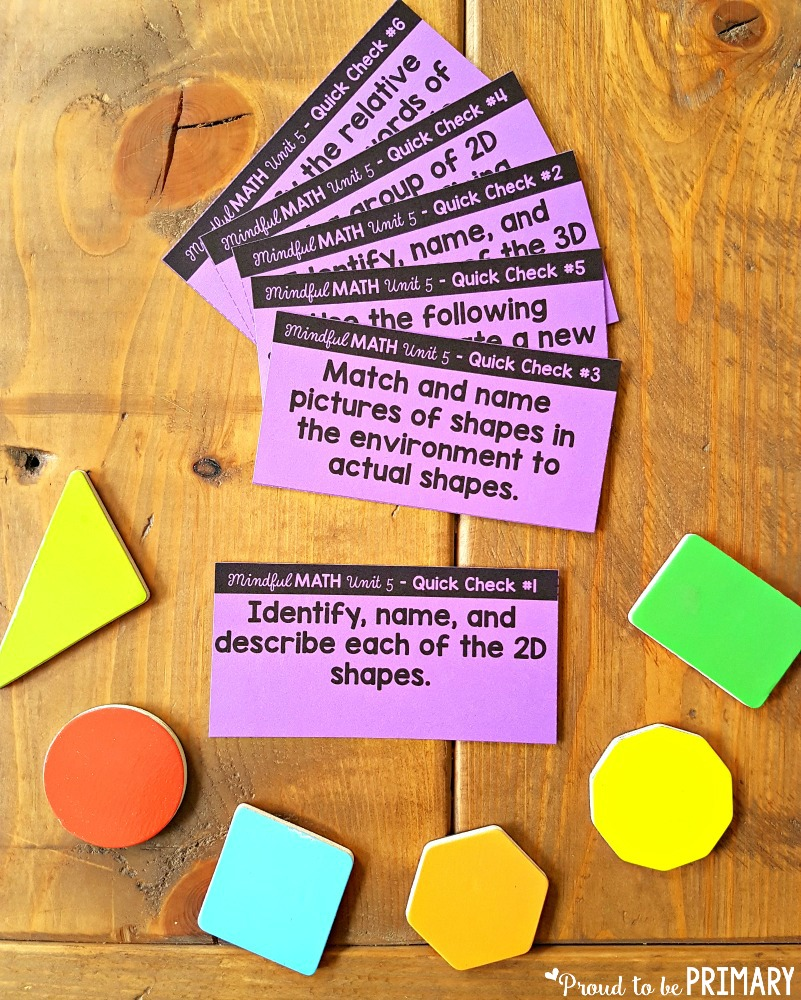 geometry and shapes for kids - flash cards