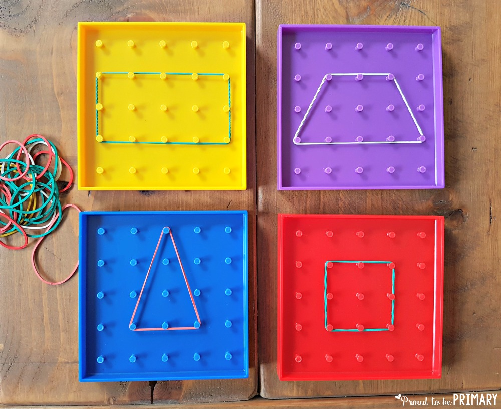 geometry and shapes for kids - geoboards