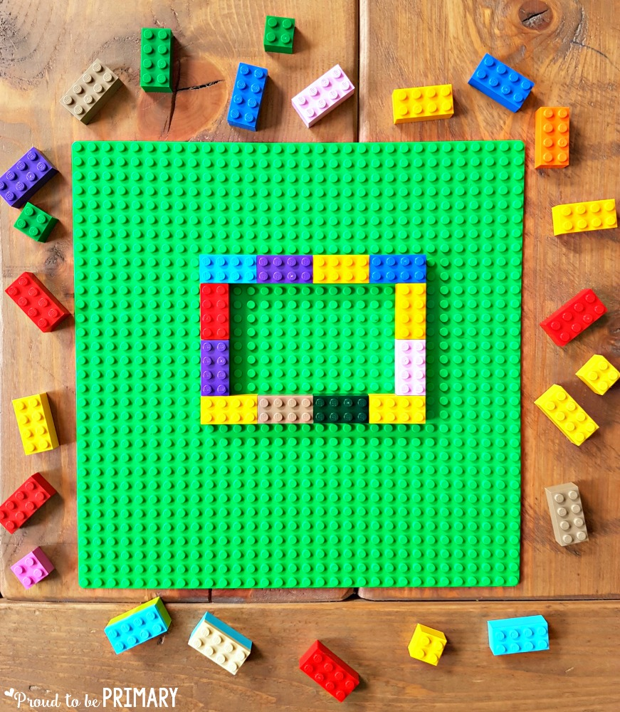 geometry and shapes for kids - build with legos