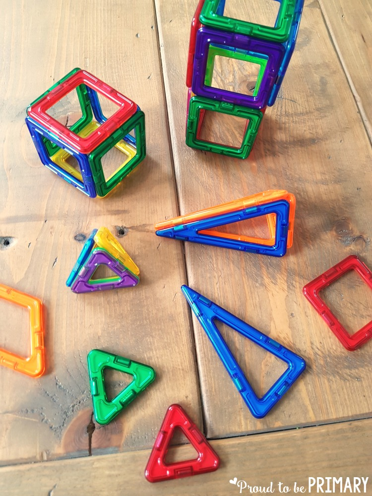 geometry and shapes for kids - magnet blocks