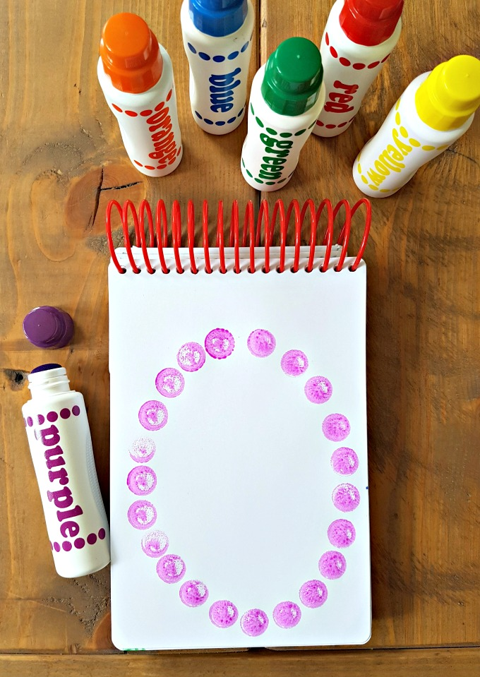 geometry and shapes for kids - do-a-dot markers
