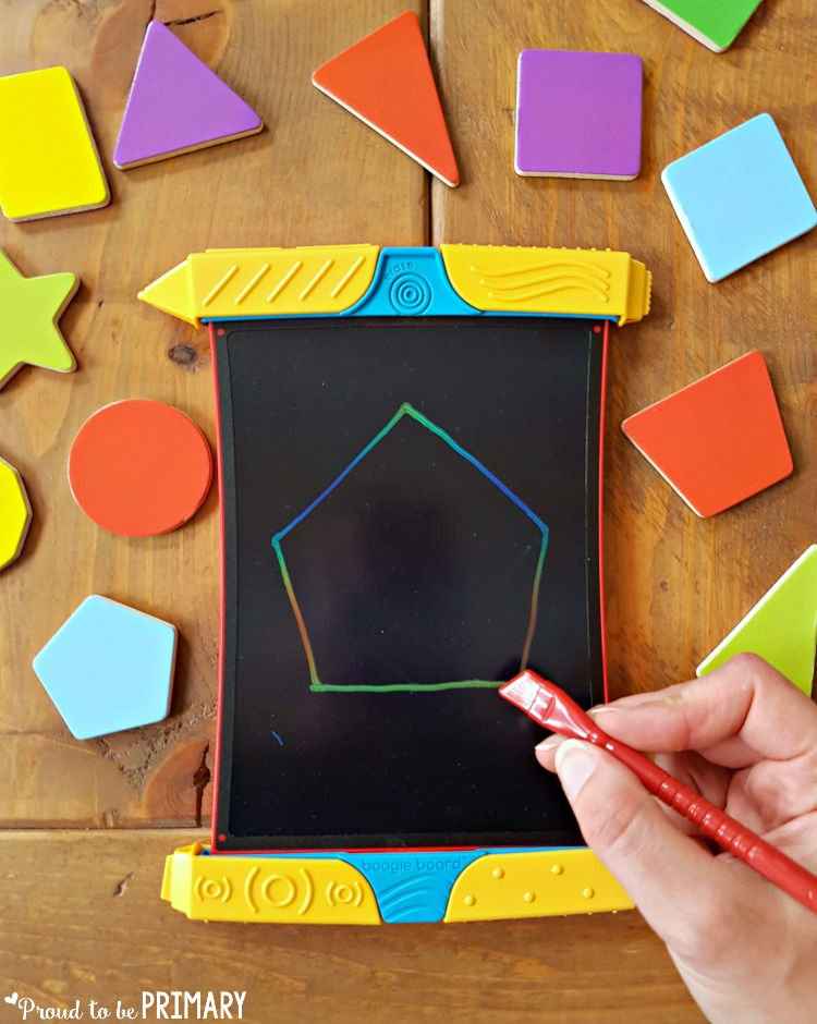 geometry and shapes for kids - boogie board