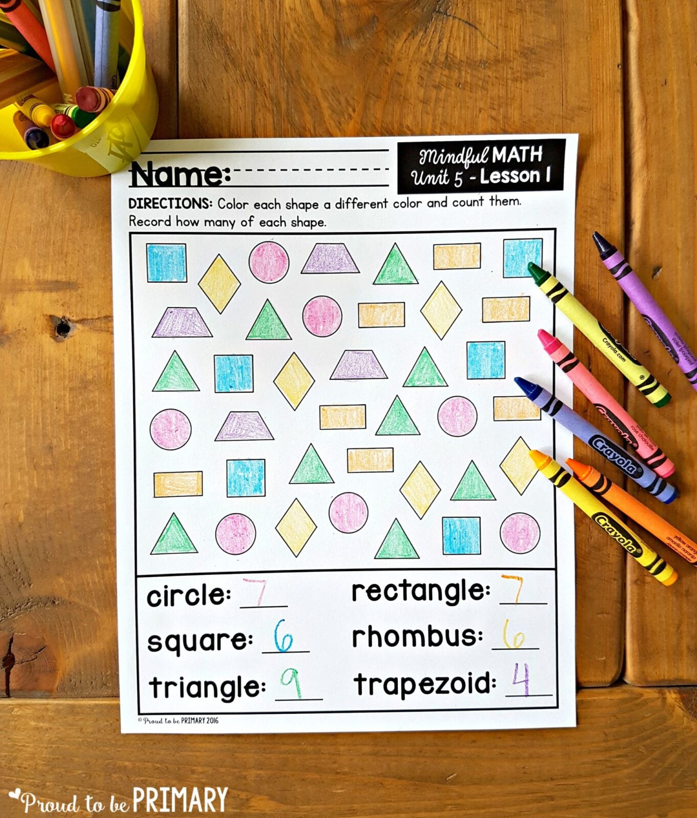 geometry and shapes for kids - printables