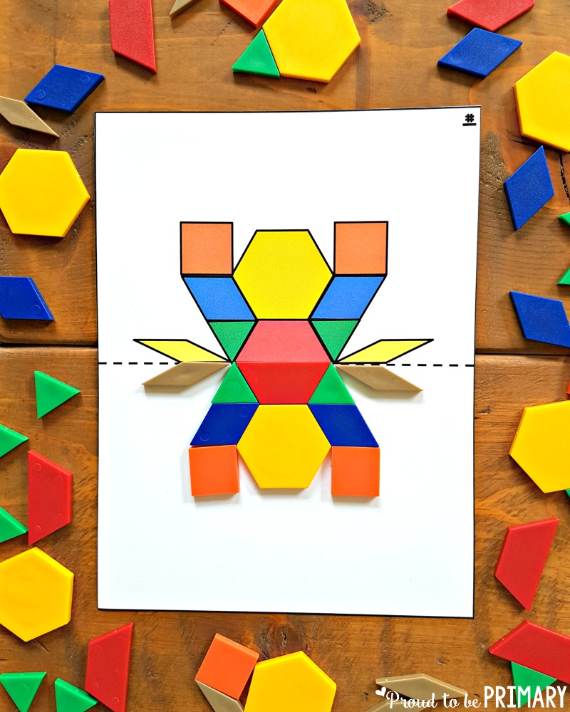 geometry and shapes for kids - symmetry cards