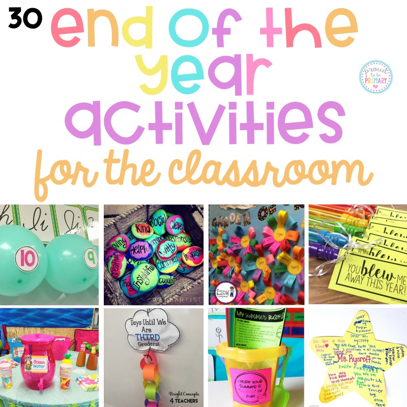 Classroom Craft Ideas ~ End of the year activities for classroom proud to