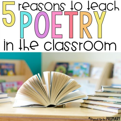 Read these 5 reasons to teach poetry in the classroom. Instill a love for poems in children with the right activities to build a ton of important reading, writing, language skills, and more. Grab a FREE poem and activities for kids and a ton of valuable ideas for your poetry lessons!