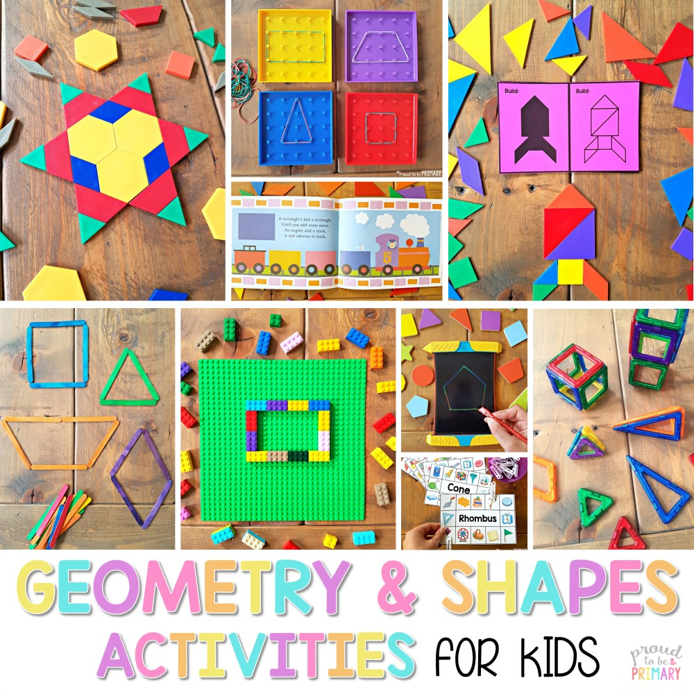 How To Bring Summer Vibes Into Your Home 6 Color Ideas: Geometry And Shapes Activities For Kids
