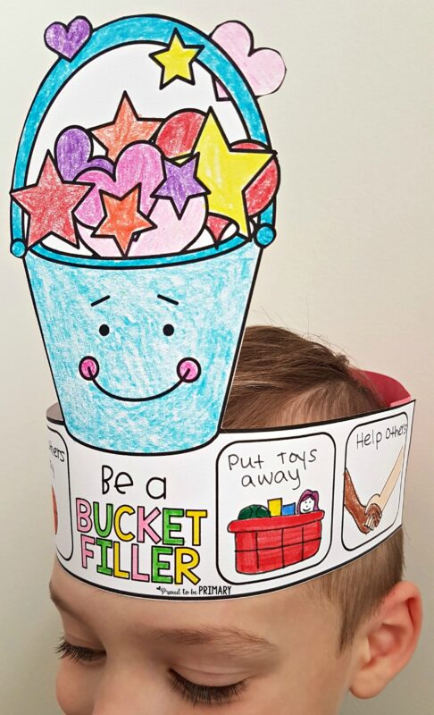 Be a bucket filler hat - kindness activity