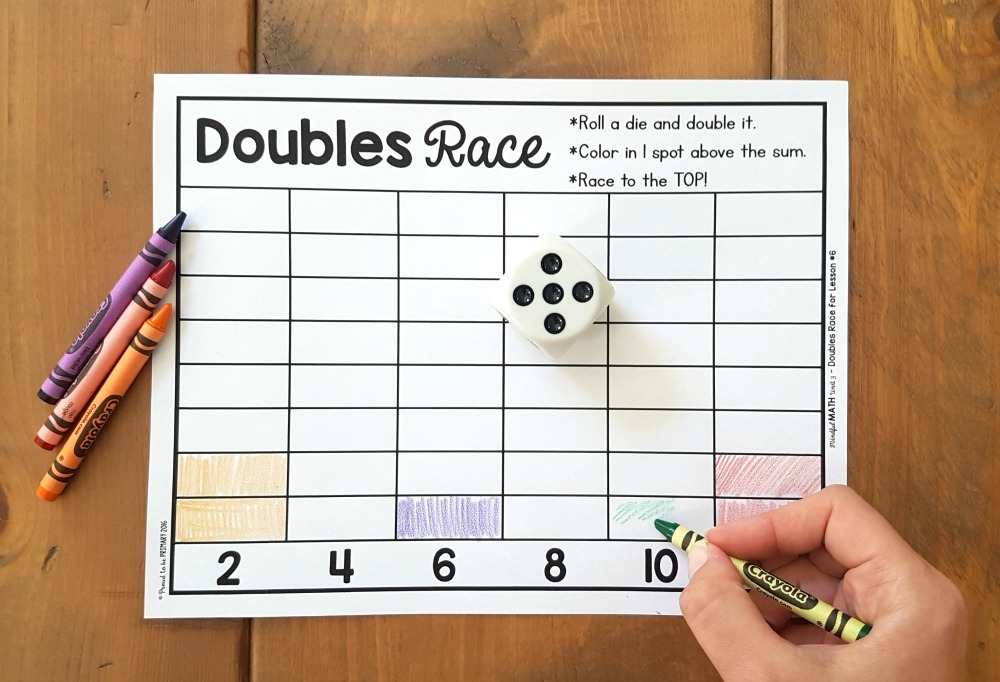 addition and subtraction activities for kids - dice game