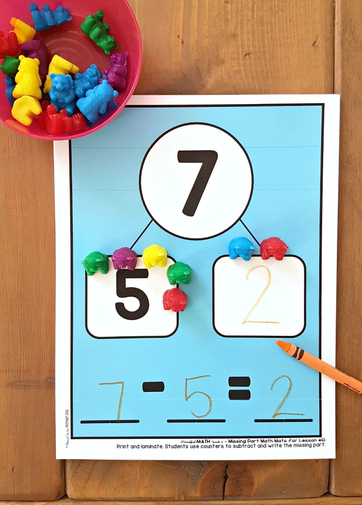 addition and subtraction activities for kids - counting bears