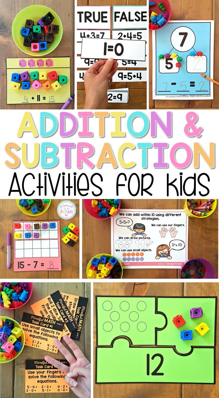 Addition and Subtraction to 20 Activities for Kids – Proud to be Primary