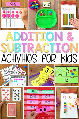 534709b74eb12 Addition and Subtraction Activities for Kids: FUNdamental Methods ...