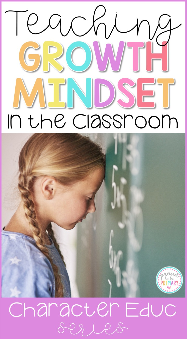 teaching growth mindset in the classroom - girl with head against blackboard