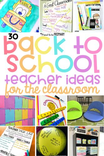 back to school ideas for teachers