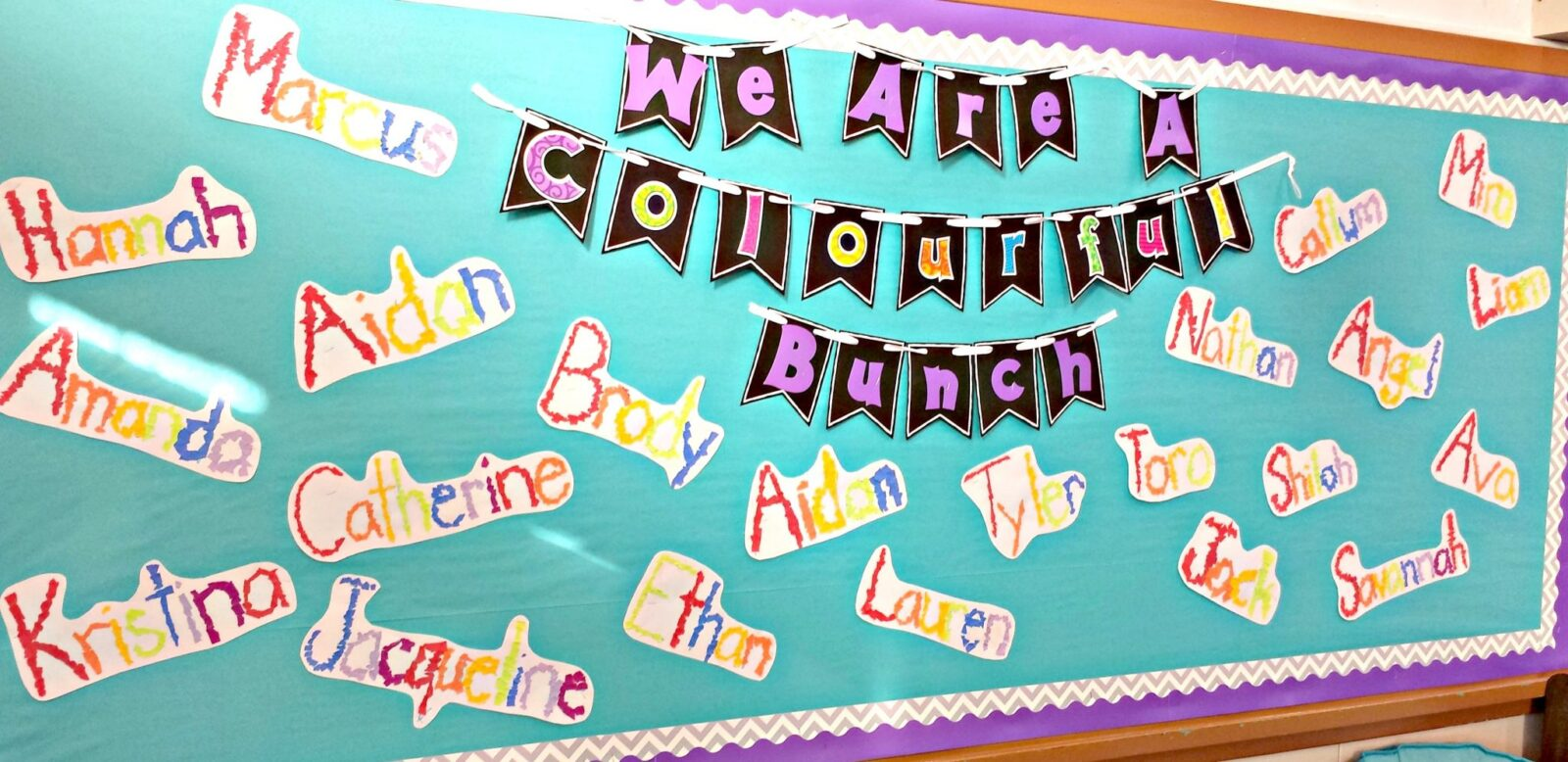 first week of school activities - bulletin board with names