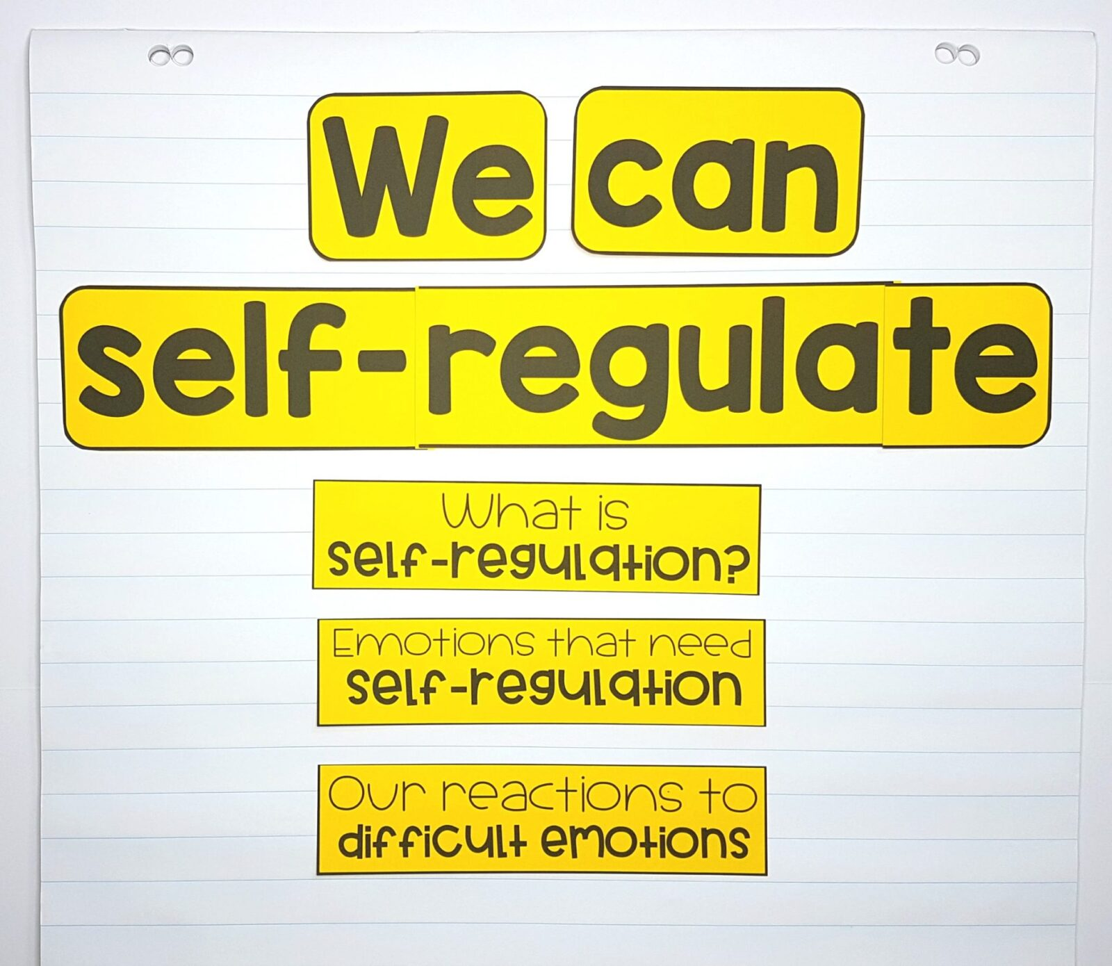 teaching self-regulation skills in the classroom - chart