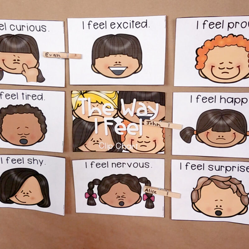Emotions for Kids: the way i feel clip cards
