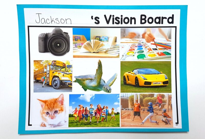 Emotions for Kids: vision board