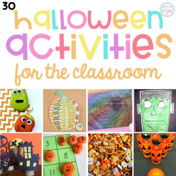 Check out the BEST Halloween activities for the classroom and teachers. Celebrate Halloween week and a classroom party with these spooky arts & crafts, science and STEM activities, literacy and math ideas kids will enjoy!
