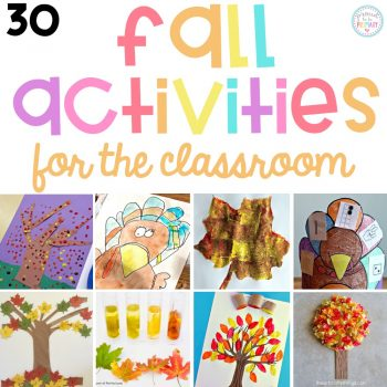 The BEST fall activities for the classroom and teachers. Plan your autumn lesson plans with these arts & crafts, fall science and STEM activities, literacy and math ideas kids will love!