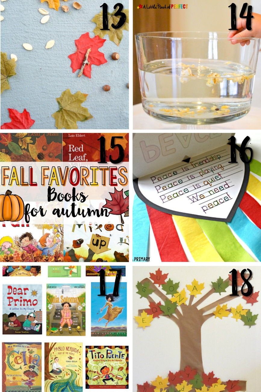 fall activities for kids - 30 fun ideas for your lesson plans